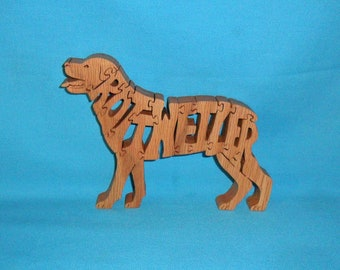 Rottweiler Dog Breed Scroll Saw Wooden Pet Lover Puzzle