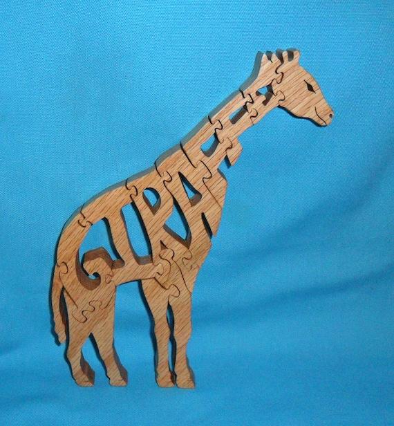 Giraffe Handmade Scroll Saw Wooden Puzzle