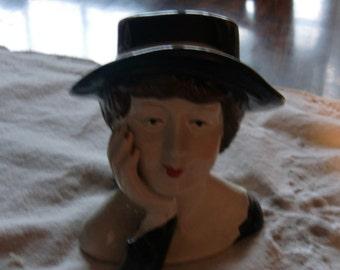 A Unique Ceramic Face of a Lady
