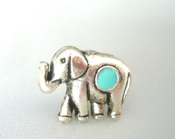 mint elephant ring, statement ring