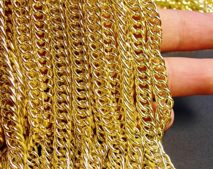 Gold chain - lead free nickel free won't tarnish - 1 meter-3.3 feet made from aluminum