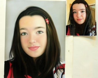 Children's and kid's portrait paintings, handpainted on canvas. Up to 30x40 inches. 100% money-back guarantee