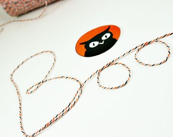 Hallloween Bakers Twine-Divine Twine-Halloween-Orange-Black and White