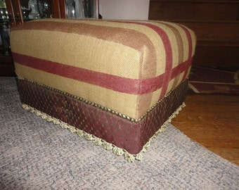 Popular Items For Upholstered Ottoman On Etsy