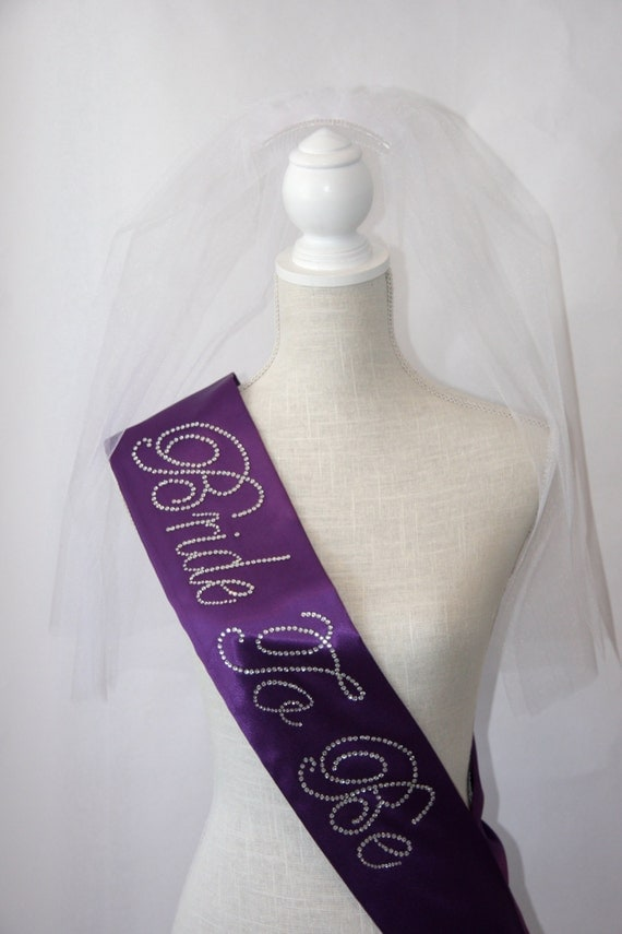 Bride To Be- Bachelorette Sash - Royal Purple - Bridesmaid Gift
