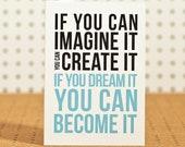 Dream It - Greetings Card