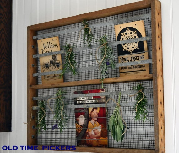 Vintage Wooden Flat Tray Screen Drawer industrial style