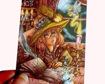 Mischievous magic ACEO print