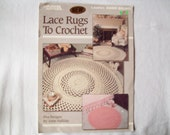 Crochet Patterns Lace Rugs to  book, Leisure arts 2269,  Anne Halliday, booklet leaflet, triple strand, Leaflet