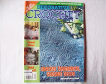 Decorative Crochet Magazine, January 2005 issue 103 Crochet Pattern Booklet, Thread, Doilies, Doily Patterns, Thread Crochet patterns