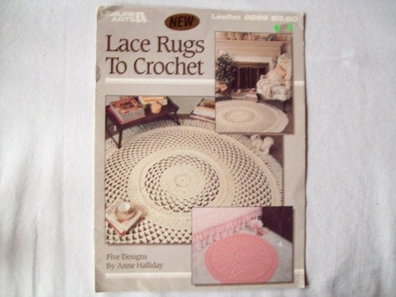 Crocheting Rugs Book : Crochet Patterns Lace Rugs to book, Leisure arts 2269, Anne Halliday ...