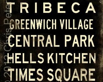 Subway sign art