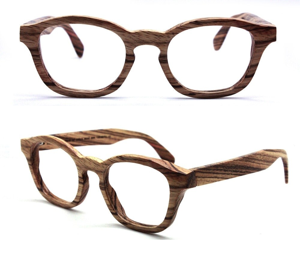 Wood Frame For Glasses : COVER-M handmade Stripe ebony wood wooden eyeglasses by ...