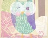 Owl with Yarn Print for Patty Cuadra