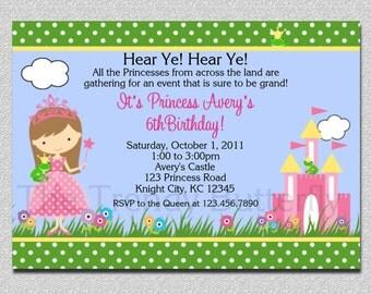 Princess Party Birthday Invitation Princess Birthday Party Invitations Printable