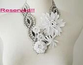 Irish Crochet Lace  Collar (Spirit of Flower)