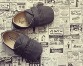 Baby Boy Shoes Soft Soled Shoes Toddler Boy Shoes Infant Boy Shoes Gray Shoes Modern Boy Shoes Dress Shoes
