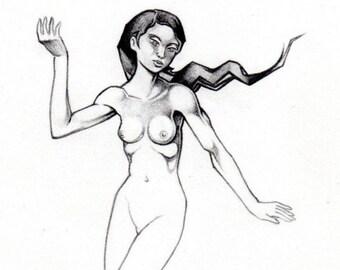 Dancer Sketch - Original Drawing
