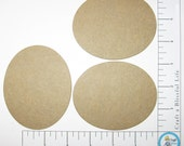 Ovals Medium Weight Natural Chipboard Three Cut Outs