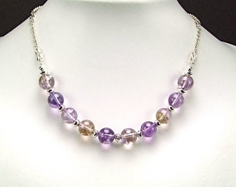 Ametrine & Sterling Silver Necklace - N334