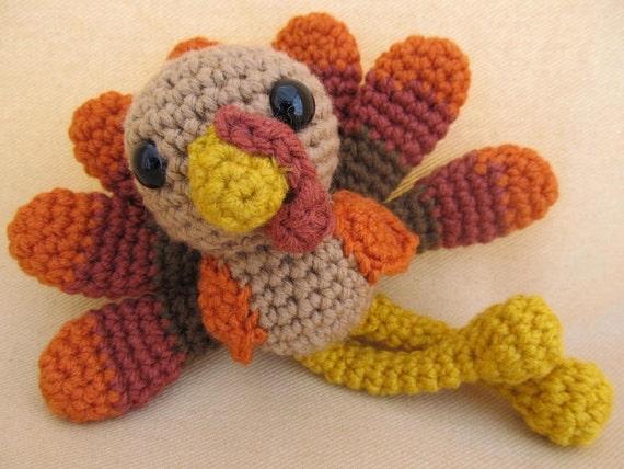 Free Turkey Amigurumi Pattern : Trevor turkey crochet amigurumi pattern