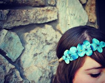 cornflower blue flower crown for women, girls, teen: steph