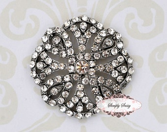 5pcs RD162 Rhinestone Crystal Metal Flatback Embellishment Button Brooches wedding bridal favor invitation crystal bouquet flower hair