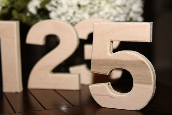 stand alone wooden numbers 2