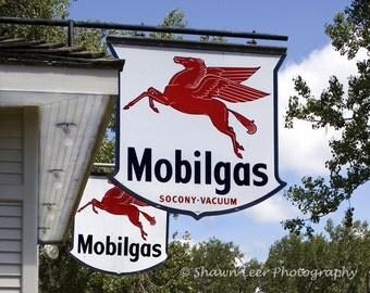 Pegasus Mobil Gas Socony-Vacum Signs