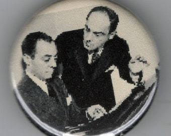 Playwrites and composers Rogers and Hart. 1 1/4 inch pin back button.