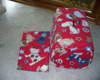 Pet Travel Dog Carrier Cover in medium with matching quilted pad