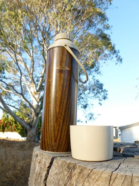 Vintage Woodgrain Thermos