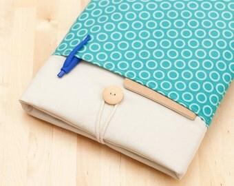 iPad Air 2 case / iPad Pro sleeve / iPad cover / padded  - light blue circles -