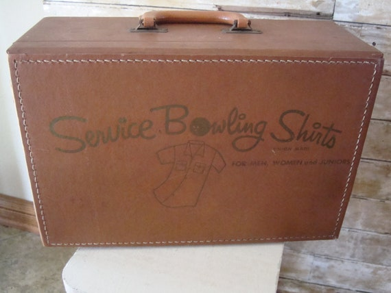 Vintage Leather Sample Case Bowling Shirt Sample Case RARE
