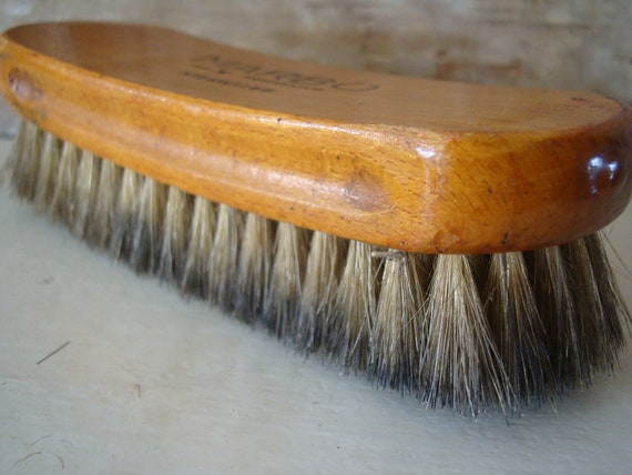 Vintage Wooden Shoe Brush 100% Horsehair Marbo