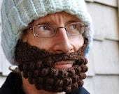 Beard for a Beanie Hat, Adult Medium, Brown, Bernat Waverly Yarn
