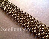 Antiqued brass Round Link Chains (10 ft)