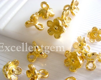 8pcs Lovely Gold plated charms in 10mm jewelry making