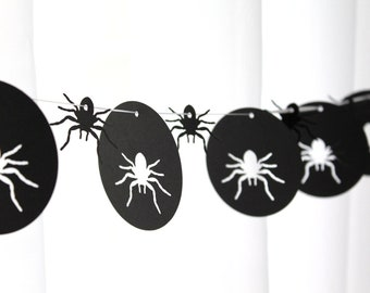 6 Foot - Creepy Spider Party Banner Garland