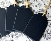 6 Chalkboard Tags for weddings, baskets, labeling and more with Jute twine