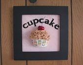 Black Framed Cupcake Sign