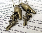 THE MALTESE FALCON earrings literature jewelry Dashiell Hammett literary jewelry detective literature earrings film noir