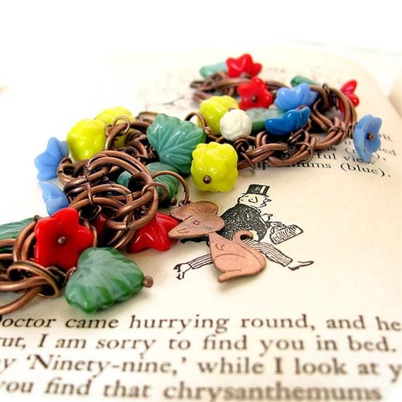 The DORMOUSE & The DOCTOR nursery rhyme bracelet unique jewelry charm bracelet children's literature jewelry poem bracelet A A Milne