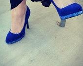 Refurbished Blue Suede Shoes