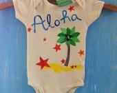organic baby onesie, a little bit of aloha...