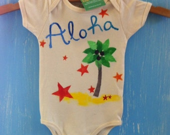 organic baby onesie, a little bit of aloha...