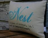 Nest screen print pillow