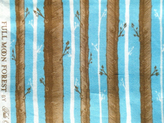 Full Moon Forest trees blue Tula Pink moda fabrics FQ or more