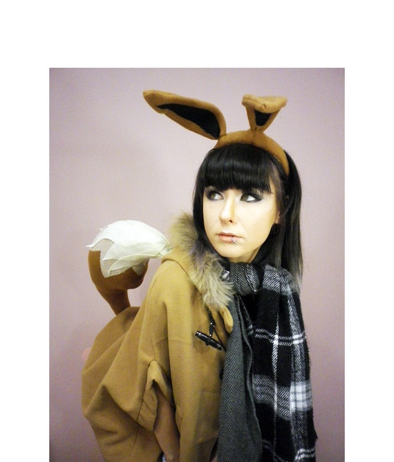 LAST CHANCE to get before Halloween express shipping Eevee Ears Headand and Tail Cosplay Set