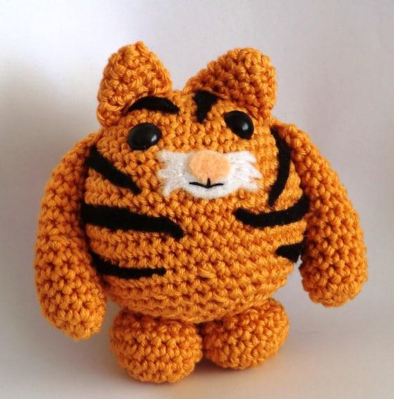 Tiger Tiger Fat Friends Amigurumi PDF Crochet Pattern From